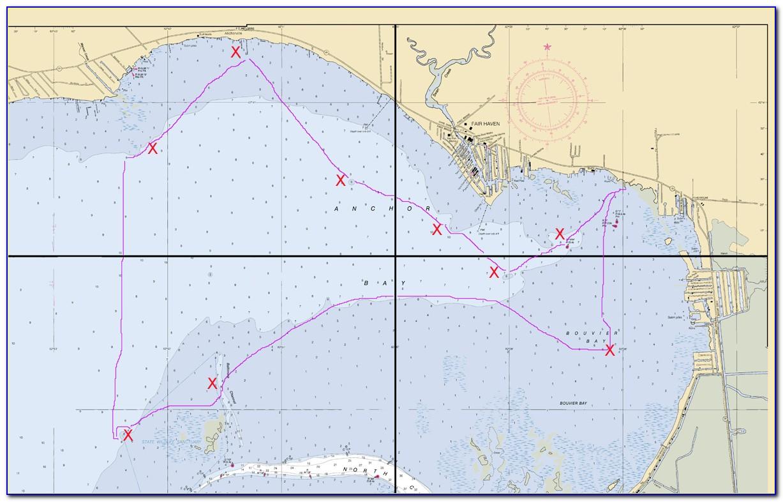 Lake St Clair Fishing Hotspot Map