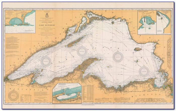 Lake Superior Topo Map