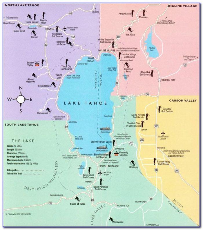Lake Tahoe Casino Hotels Map