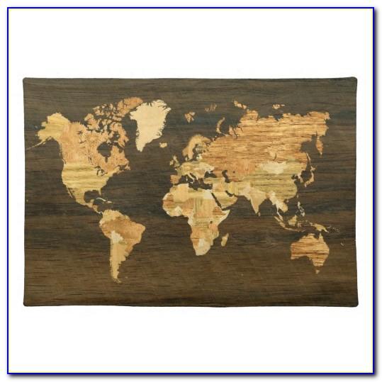 Laminated World Map Placemats