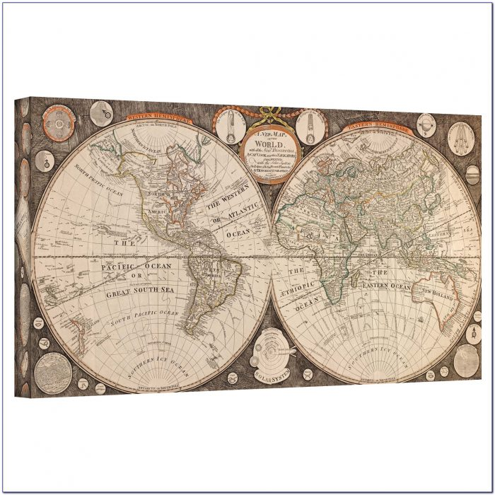 Large Antique Wall Maps