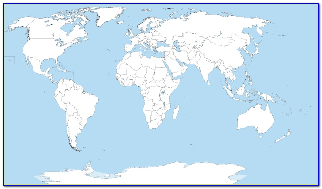 Large Blank World Map Poster