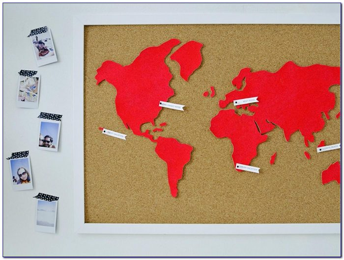 Large Cork Wall Map