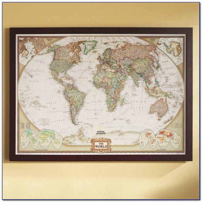 World Map Art Society6 Fresh Map Framed Art Prints Society6 And ... With Framed World Map