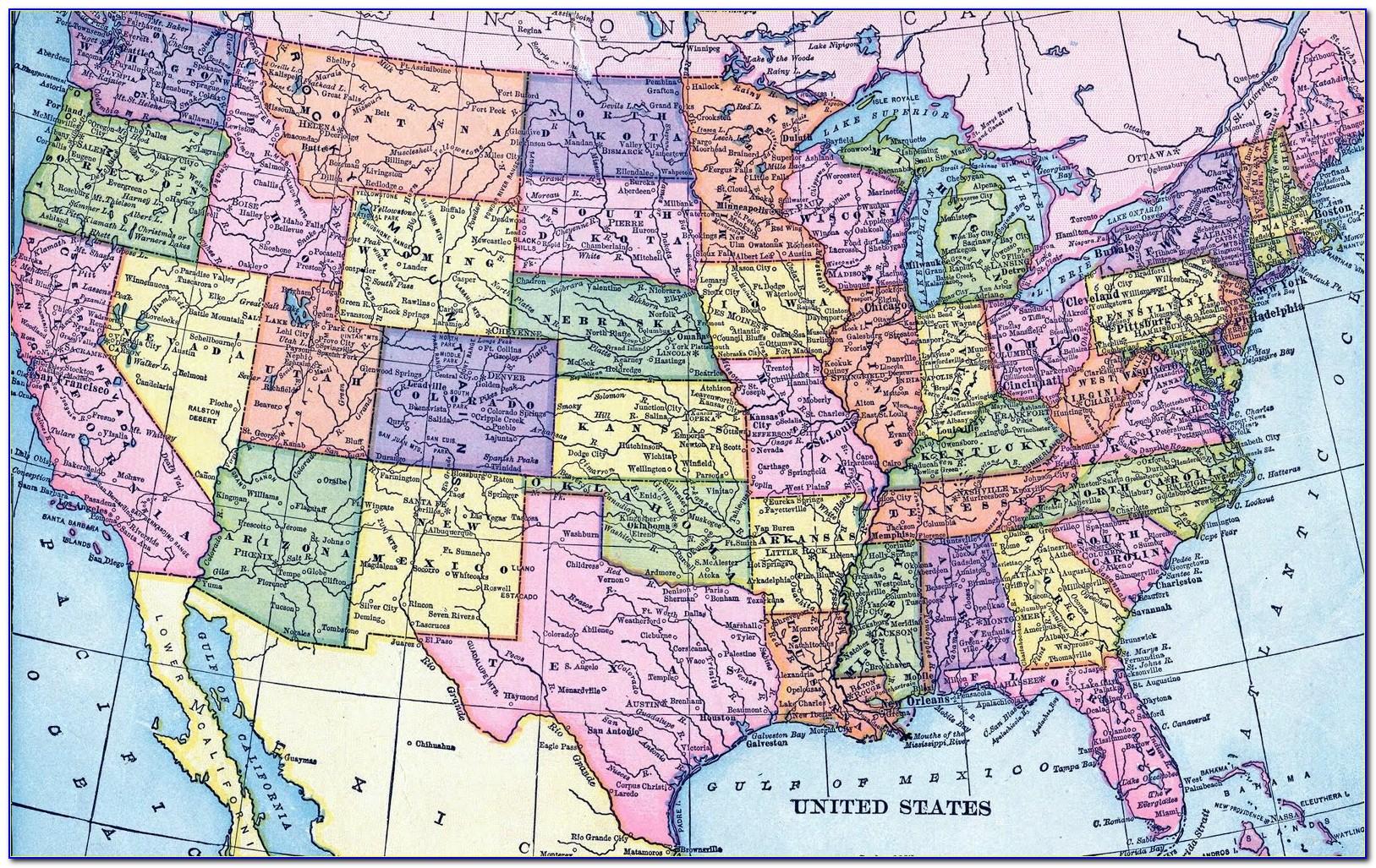 Large Printable Us Road Map