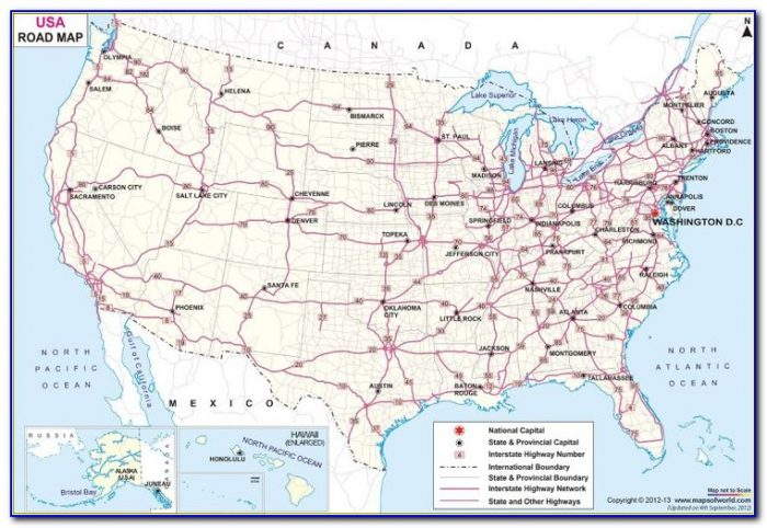 Large Us Road Map