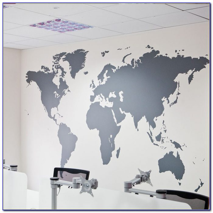 Large World Map Decal