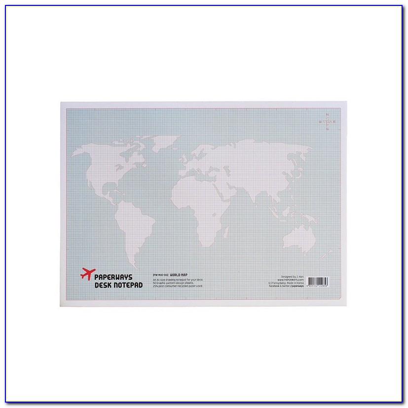 Liebird Xxl Extended World Map Desk Pad