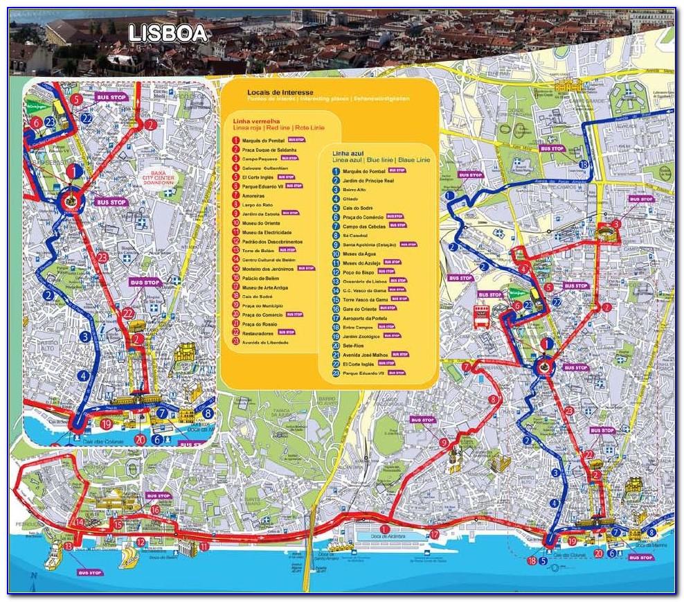 Lisbon Hop On Hop Off Bus Route Map Pdf