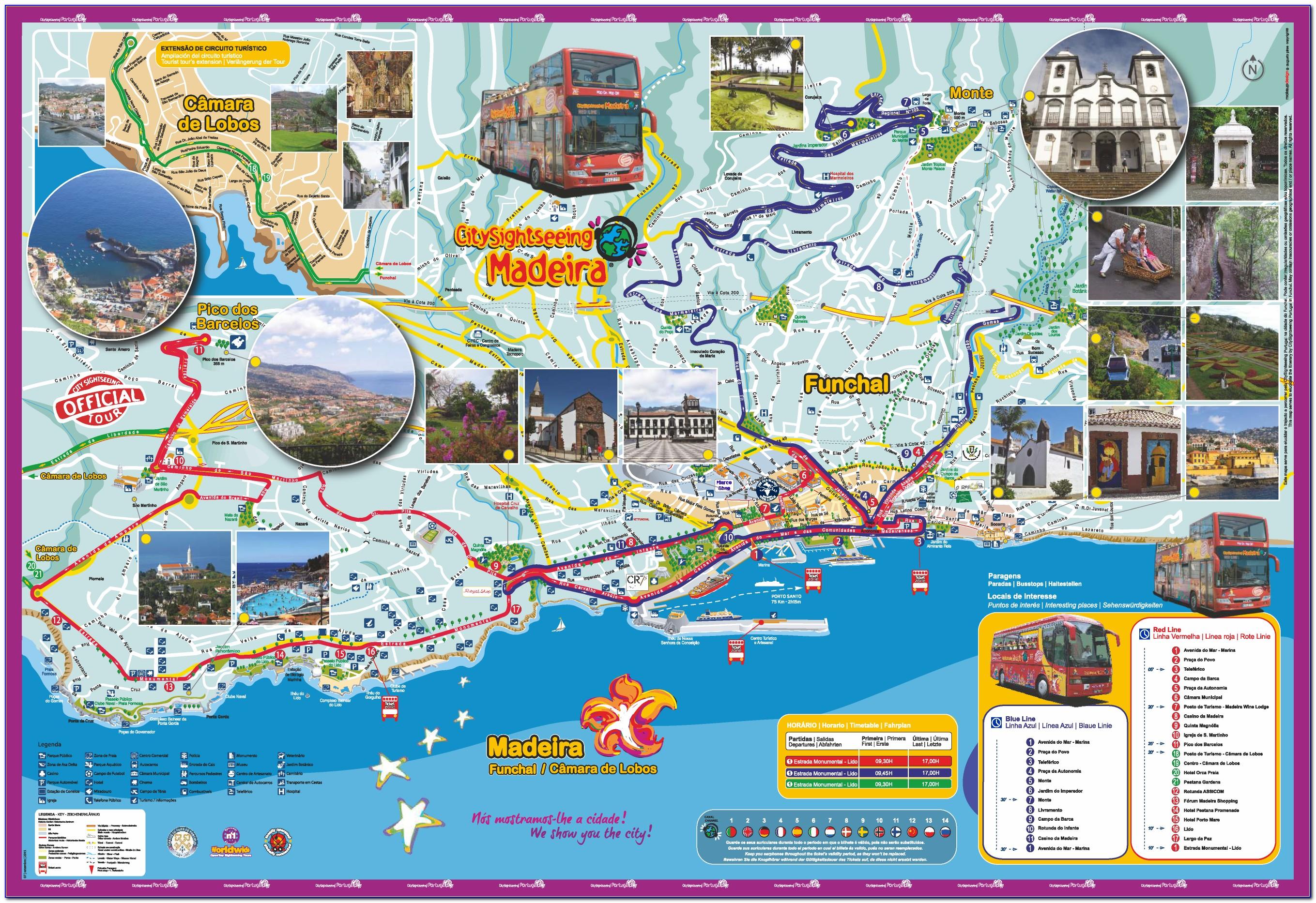Lisbon Hop On Hop Off Gray Line Map