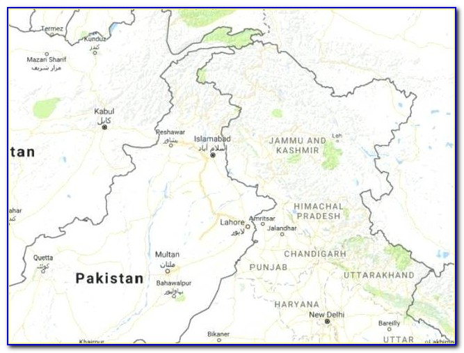 Live Satellite Google Map Of Pakistan