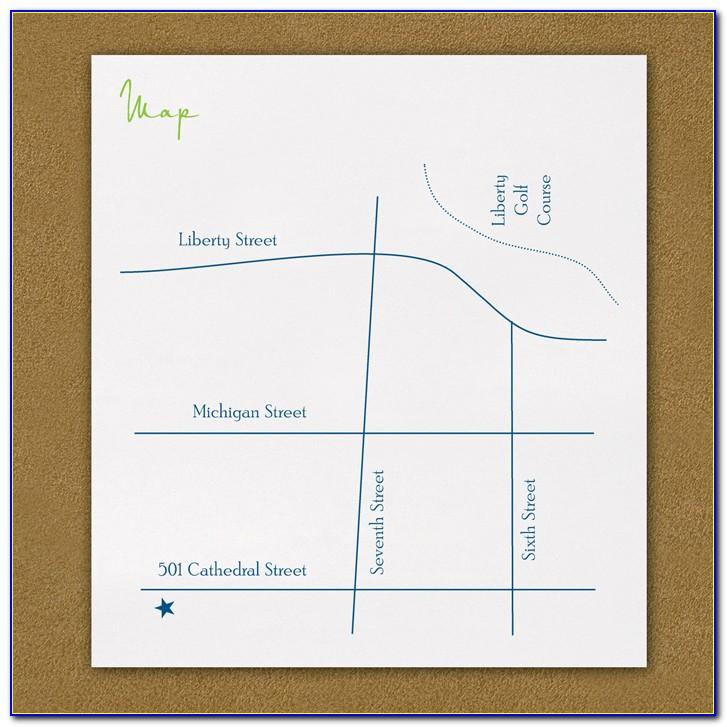 Location Map For Wedding Invitation