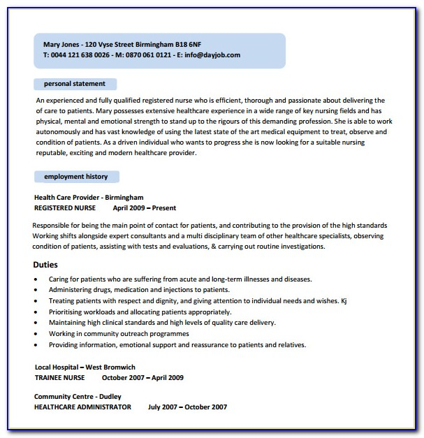 Lpn Nursing Resume Template