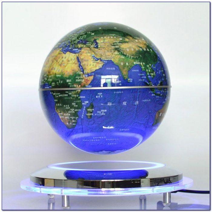 Magnetic Levitation Floating Globe Rotating World Map