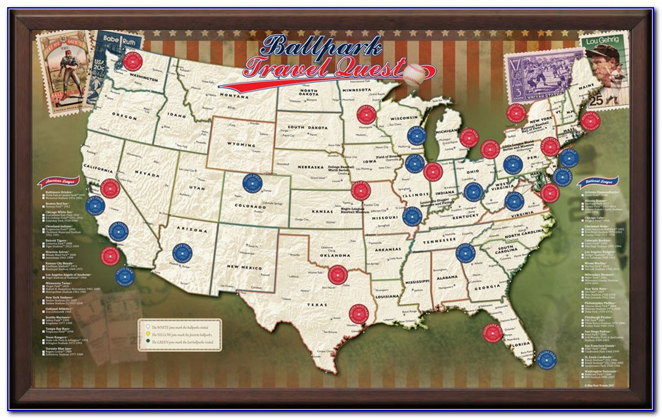 Major League Baseball Ballparks Map