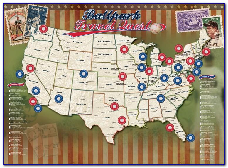Major League Baseball Fields Map