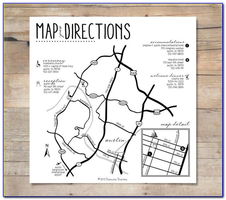 Make Map For Wedding Invitation