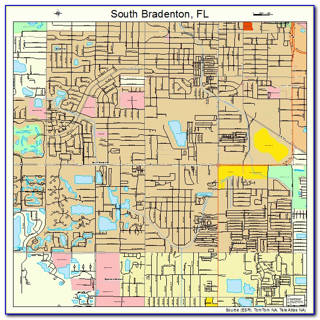Map Bradenton Florida Area