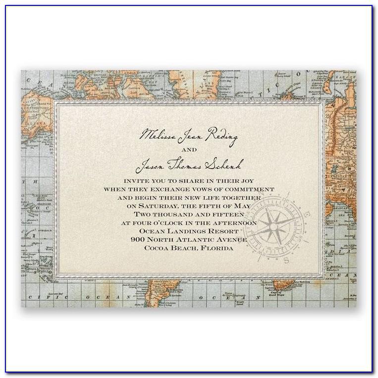 Map Directions Wedding Invitation
