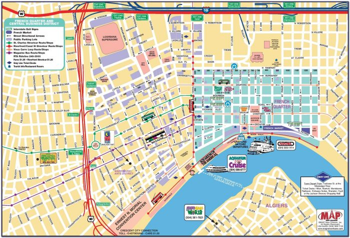 Map French Quarter Hotels