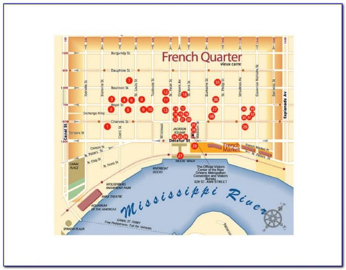 Map Hotels Near French Quarter New Orleans