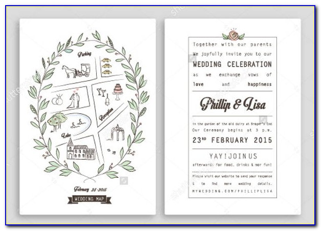 Map Maker Wedding Invitation
