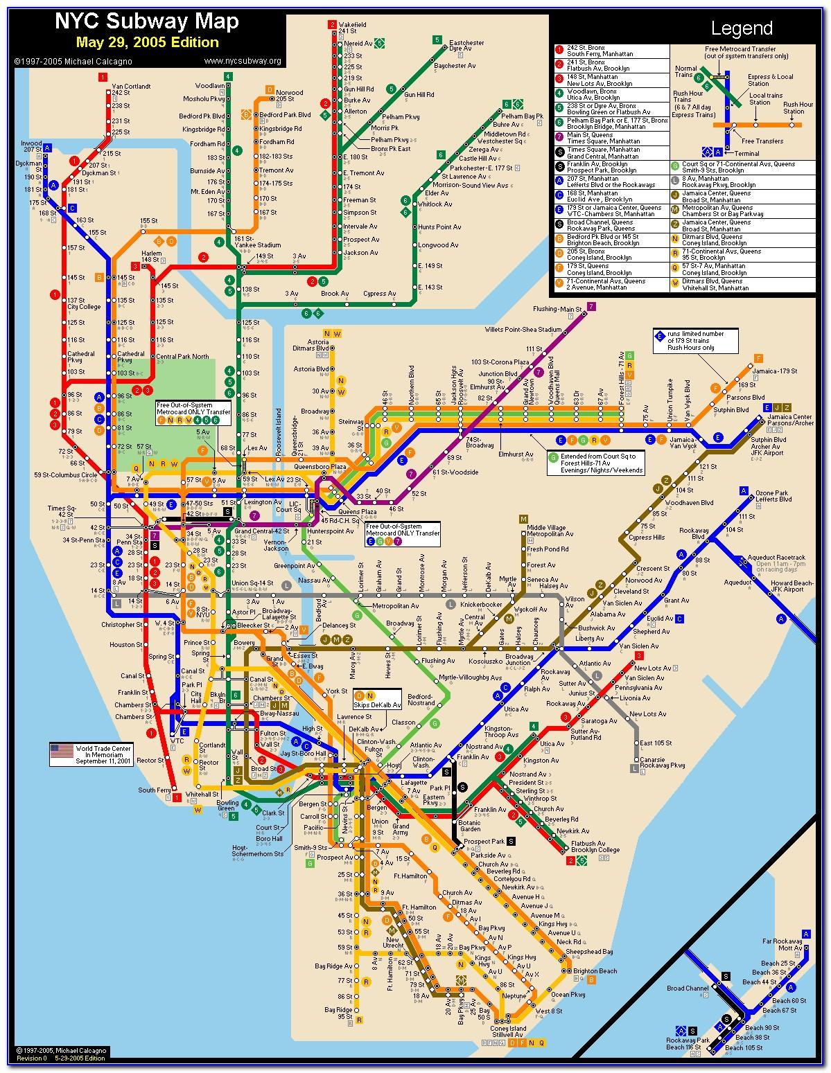 Map Metro Nyc Manhattan