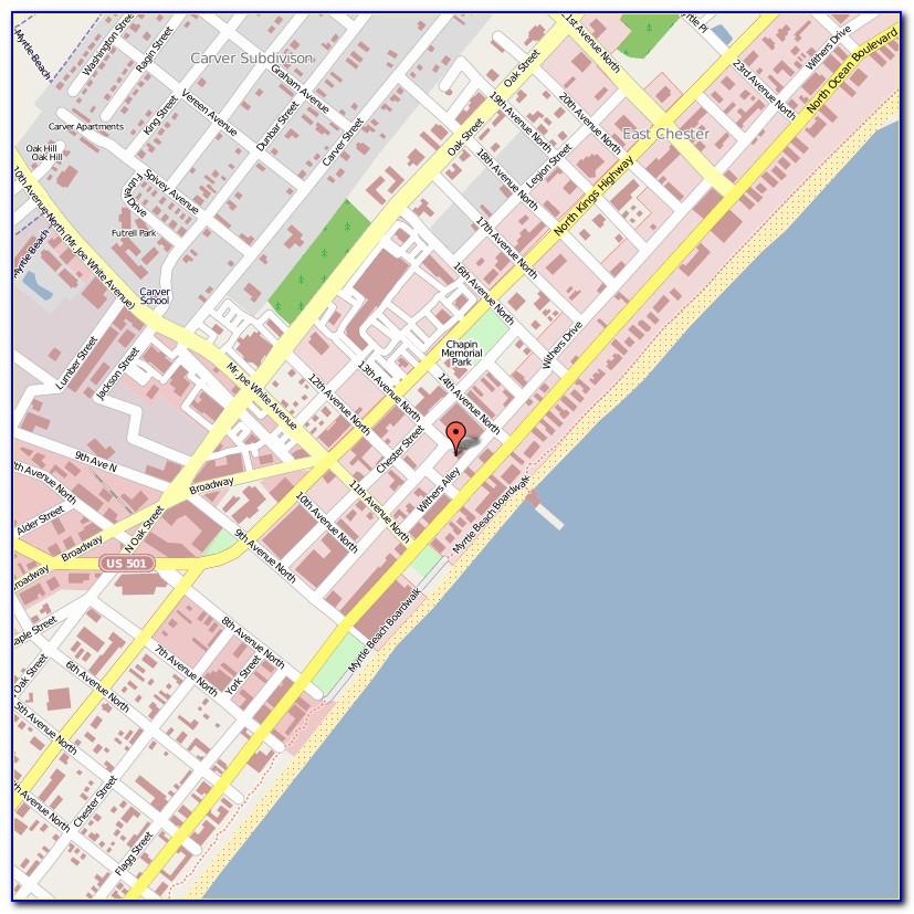 Map Myrtle Beach Hotels