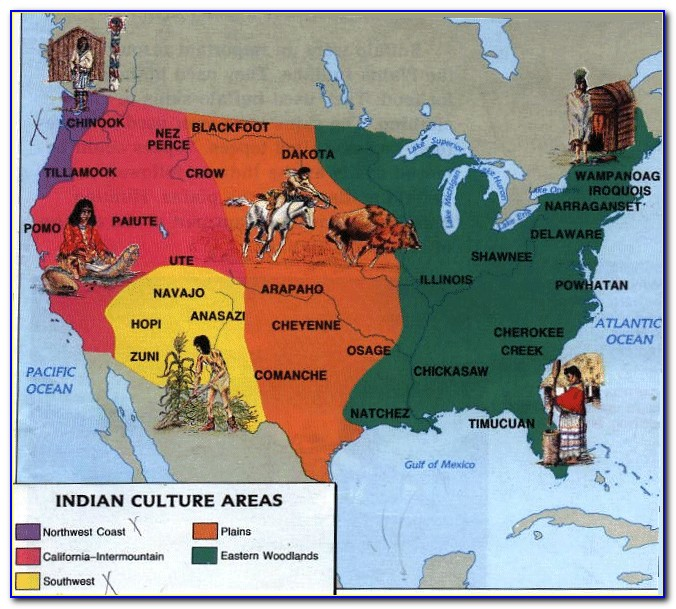 Map Native American Indian Tribes California