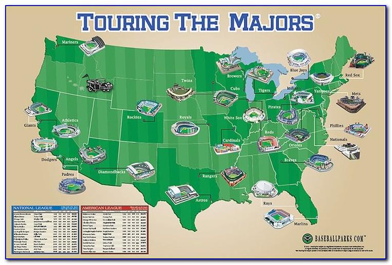 Map Of All Baseball Stadiums