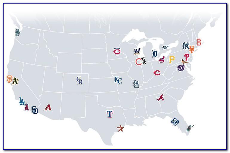 Map Of All Major League Baseball Parks