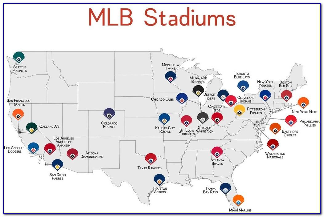 Map Of All Minor League Baseball Stadiums