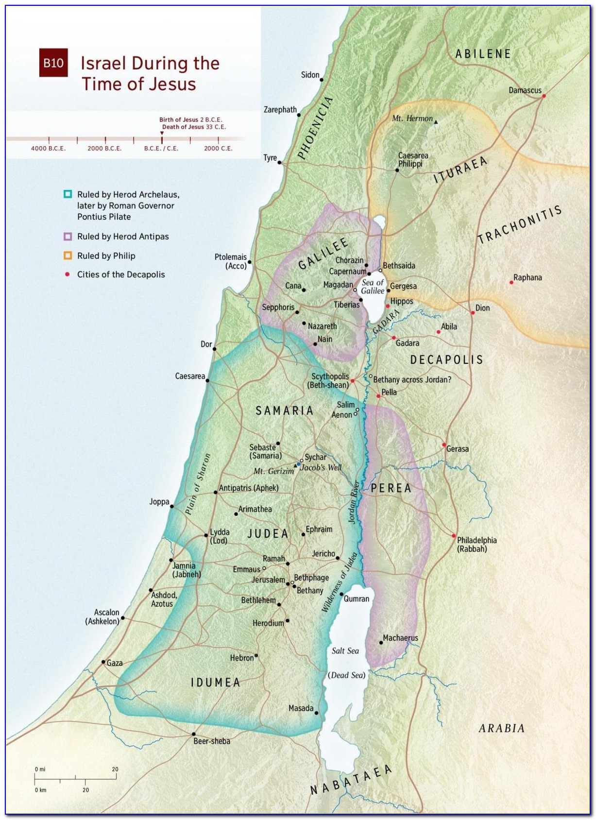 Map Of Ancient Holy Lands
