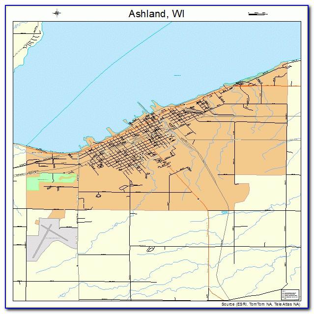 Map Of Ashland Wisconsin
