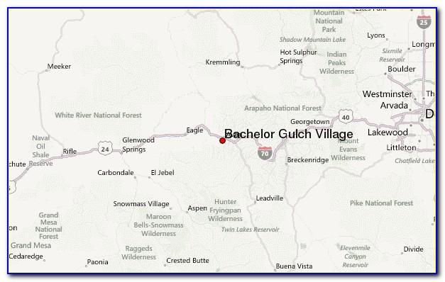 Map Of Bachelor Gulch Co