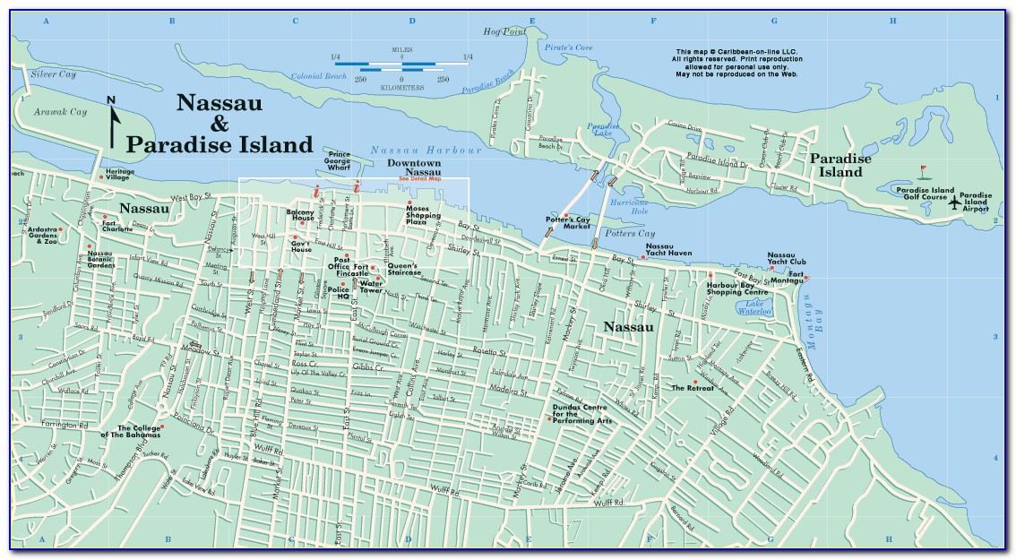 Map Of Bahamas Nassau