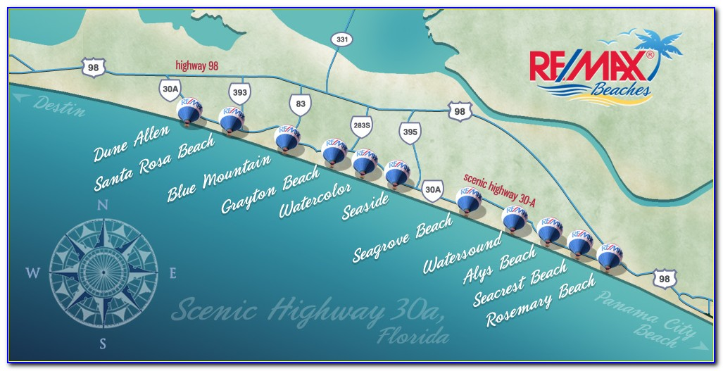 Map Of Beachfront Hotels In Panama City Beach Florida