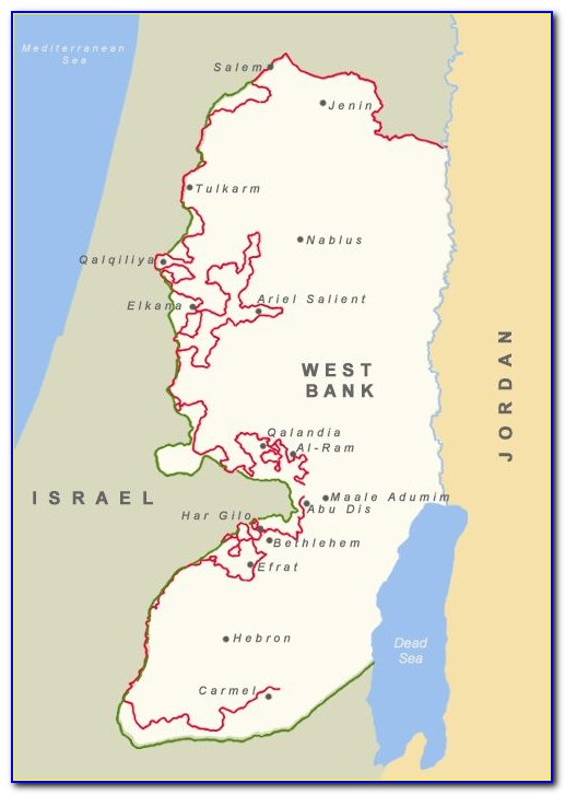 Map Of Border Wall Israel