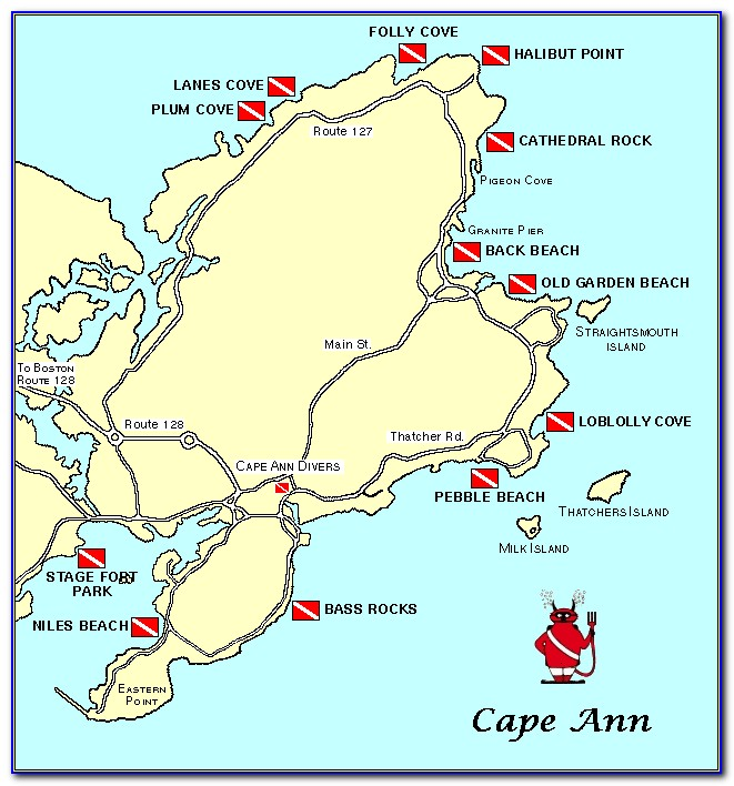 Map Of Boston And Cape Ann