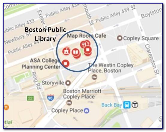 Map Of Boston Copley Square Area