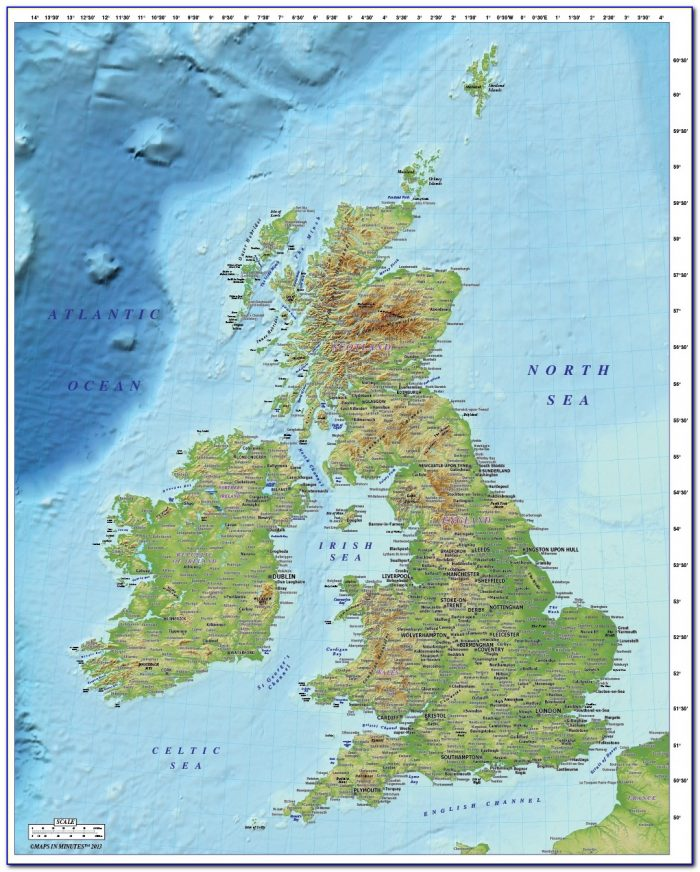 Map Of British Isles With Major Cities