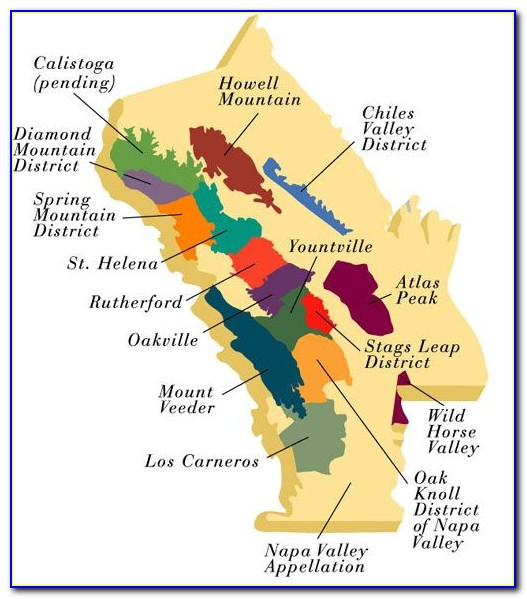 Map Of Browns Valley Napa Ca
