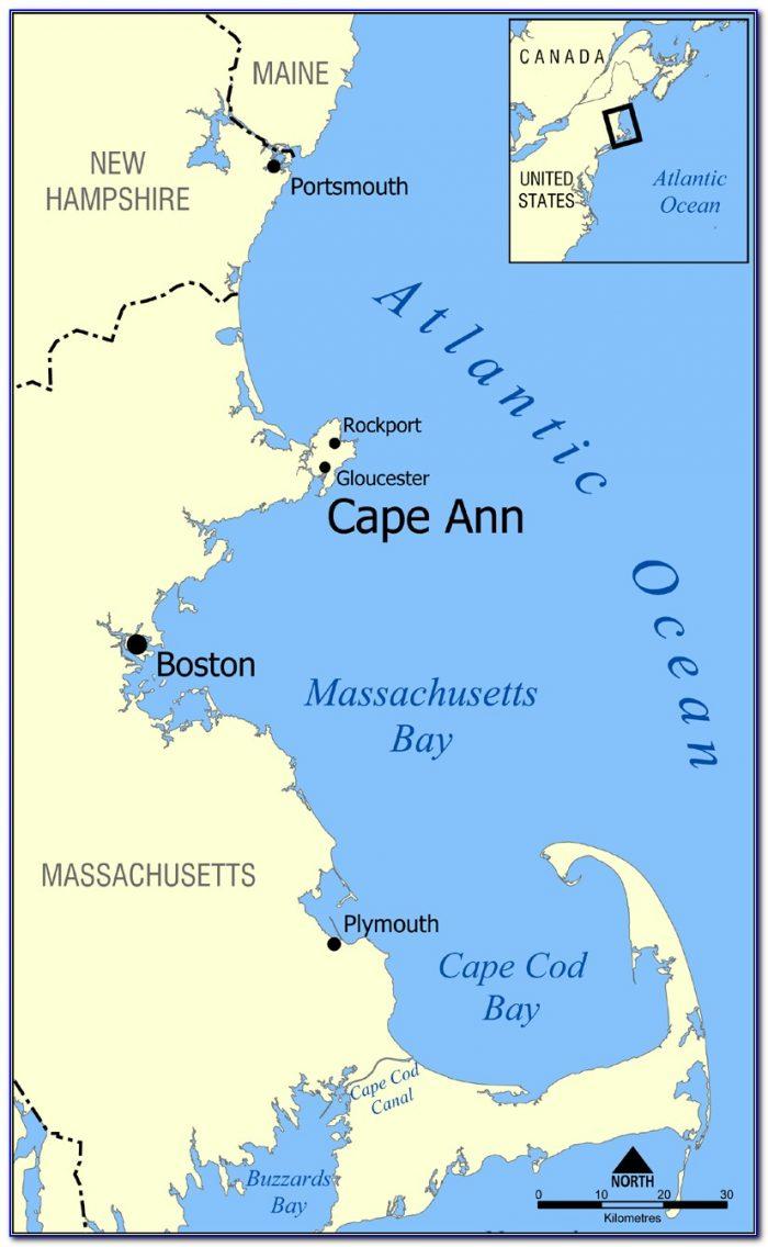 Map Of Cape Ann Beaches