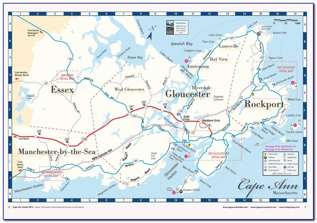 Map Of Cape Ann Mass