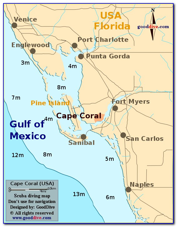Map Of Cape Coral Florida Neighborhoods