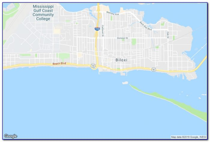 Map Of Casinos And Hotels In Biloxi Ms