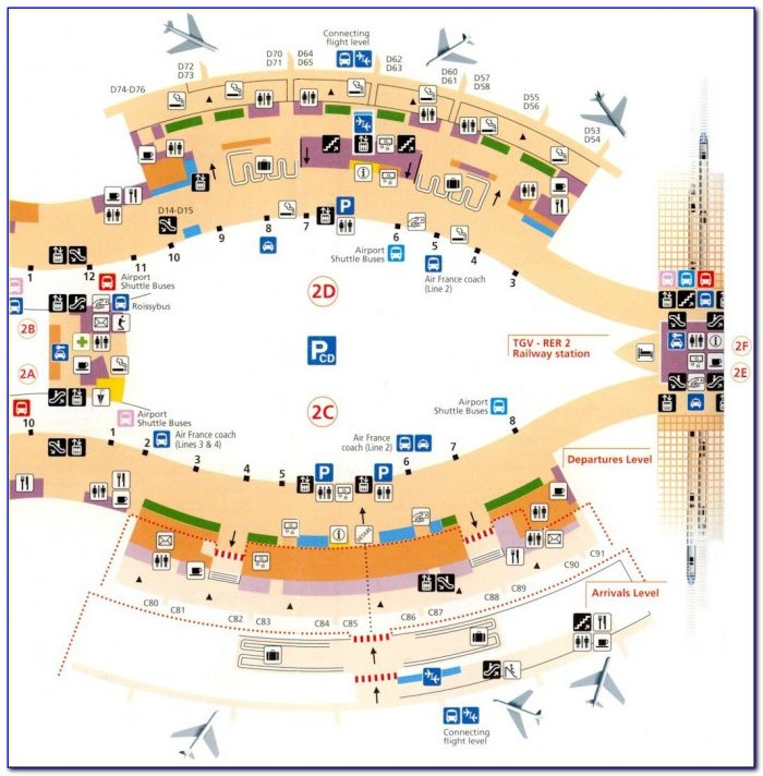 Map Of Cdg Airport Terminal 2