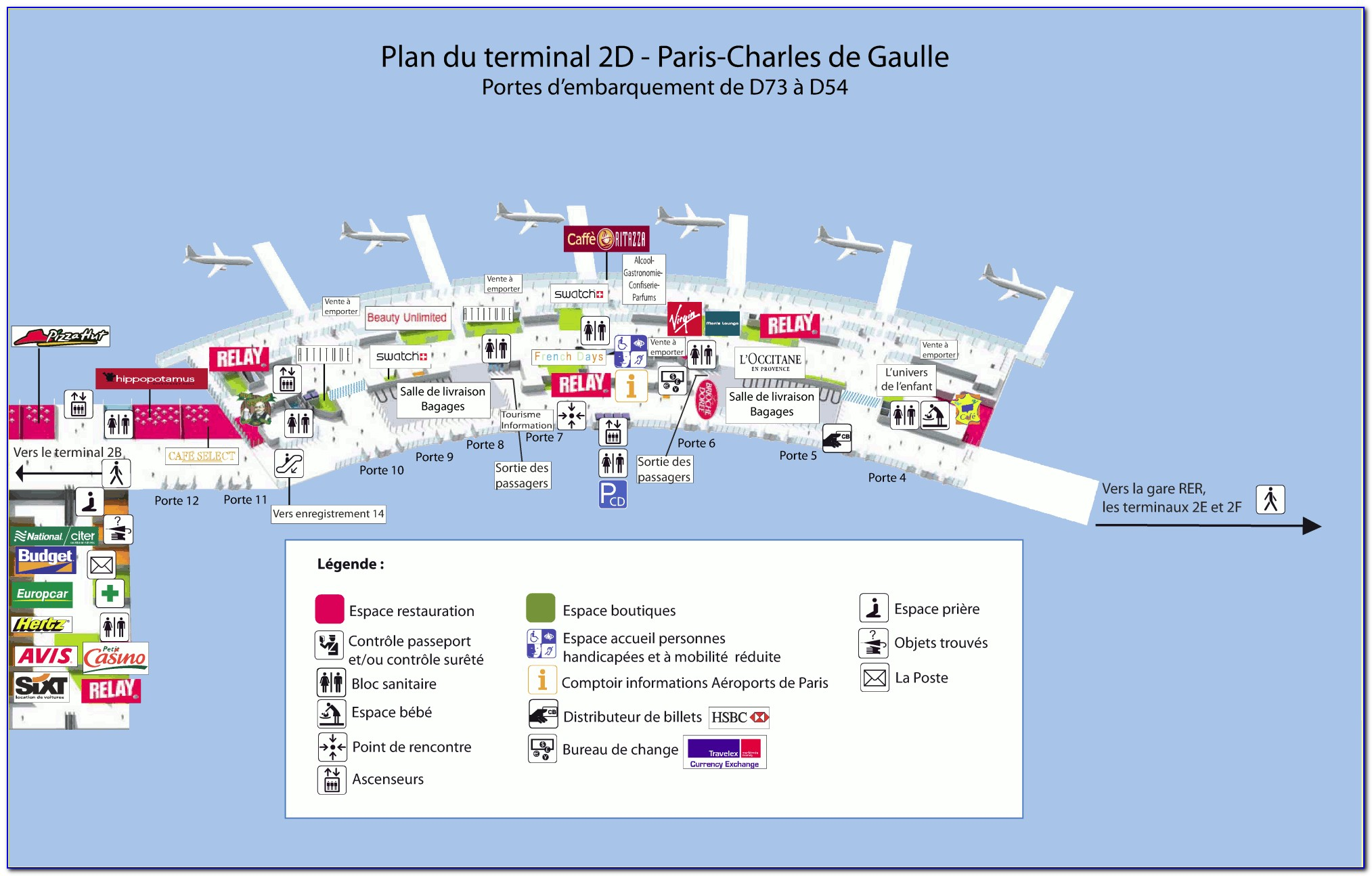 Map Of Cdg Airport Terminal 2e