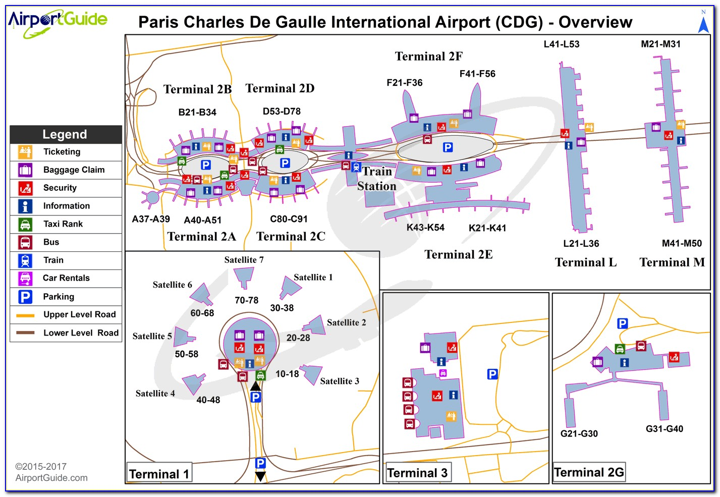 Map Of Charles De Gaulle Airport Terminal 2