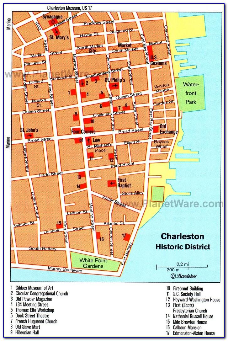 Map Of Charleston South Carolina Hotels